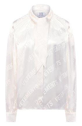 Женская блузка из вискозы VETEMENTS белого цвета, арт. WE51SH700W 2606/WHITE/WHITE   Фото 1
