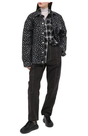 Женские кожаные кеды CASADEI черного цвета, арт. 2X838R021NC11499000 | Фото 2