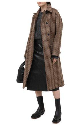 Женский шерстяной свитер ISABEL MARANT серого цвета, арт. PU1386-20A041I/ESTELLE | Фото 2