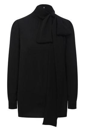 Женская шелковая блузка VALENTINO черного цвета, арт. VB3AE5R51MH | Фото 1