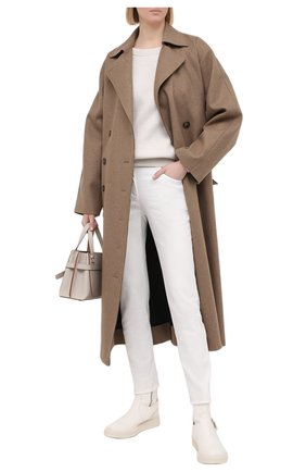 Женские джинсы BRUNELLO CUCINELLI белого цвета, арт. MH137P5553 | Фото 2