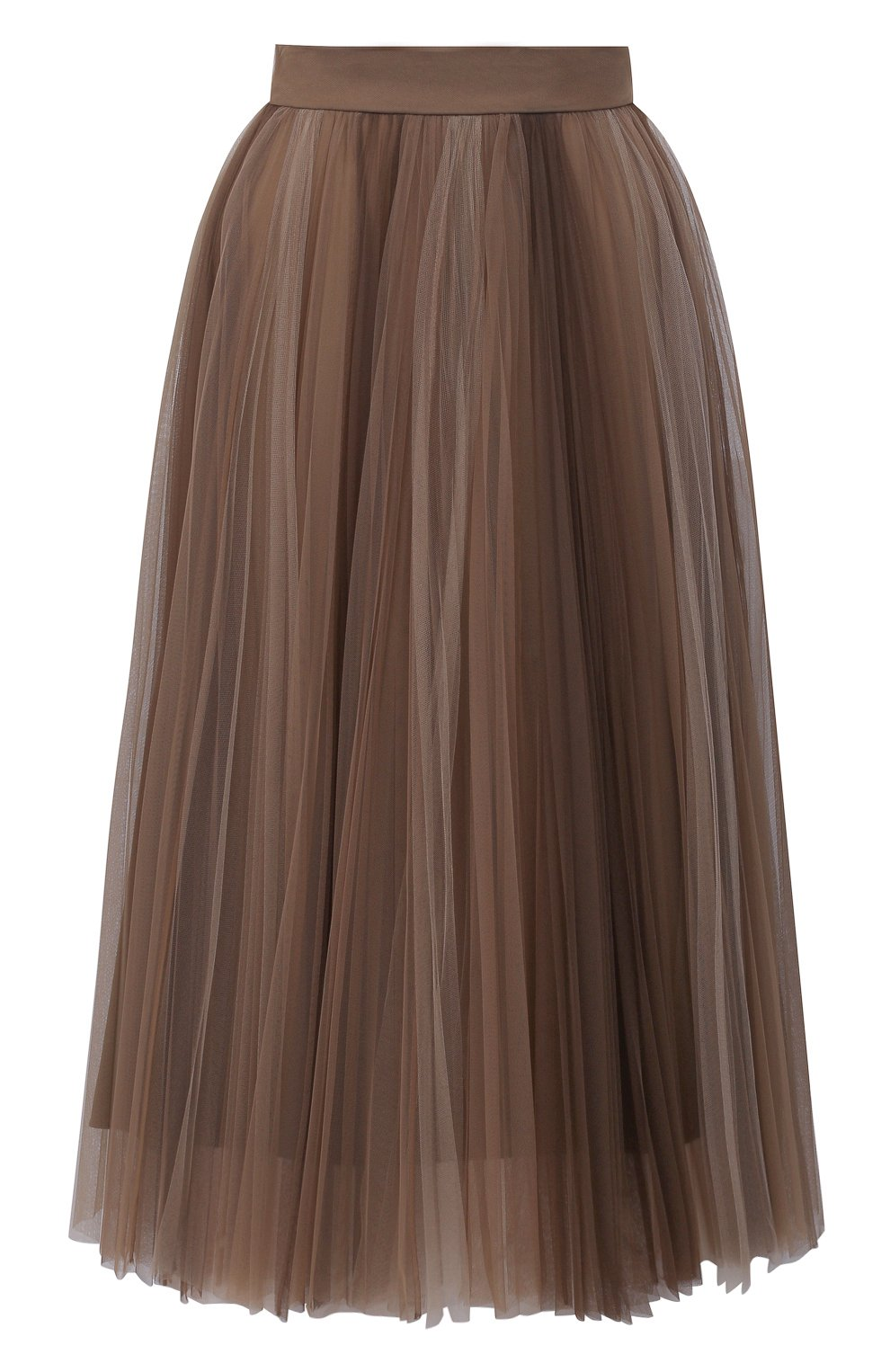 Женская юбка BRUNELLO CUCINELLI коричневого цвета, арт. MA960G3001 | Фото 1