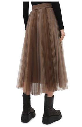 Женская юбка BRUNELLO CUCINELLI коричневого цвета, арт. MA960G3001 | Фото 4