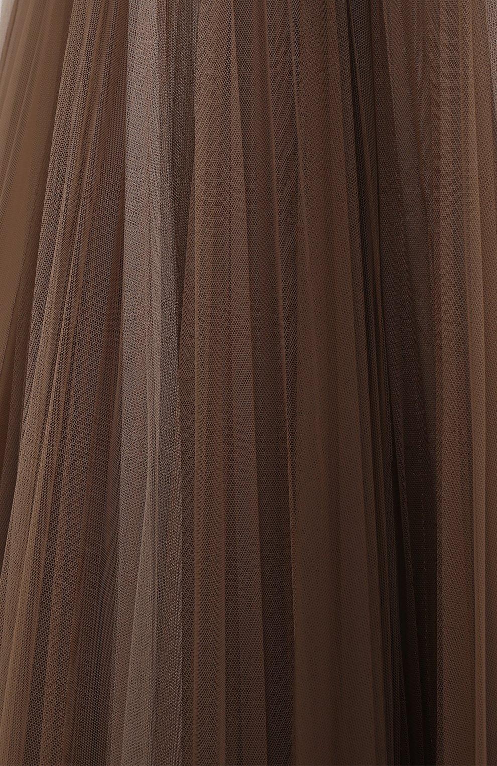 Женская юбка BRUNELLO CUCINELLI коричневого цвета, арт. MA960G3001 | Фото 5