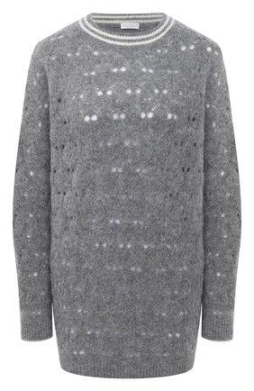 Женский свитер BRUNELLO CUCINELLI серого цвета, арт. M6W575700   Фото 1
