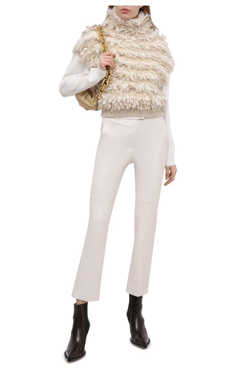 Женский шерстяной жилет BRUNELLO CUCINELLI светло-бежевого цвета, арт. M1U376404   Фото 2