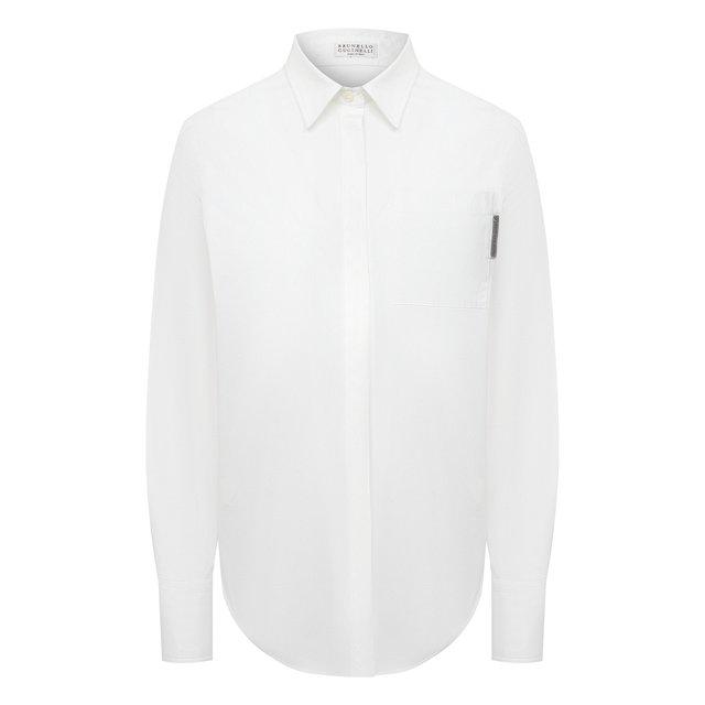 Хлопковая рубашка Brunello Cucinelli