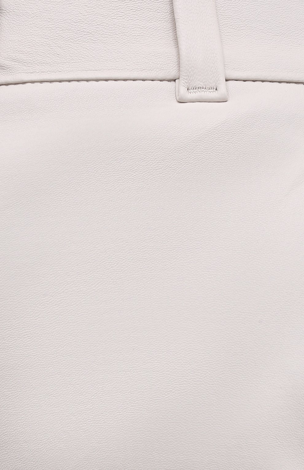 Женские кожаные брюки BRUNELLO CUCINELLI белого цвета, арт. M0V32P7118 | Фото 5