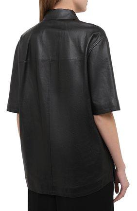 Женская кожаная рубашка BRUNELLO CUCINELLI черного цвета, арт. M0NBGRC106 | Фото 4