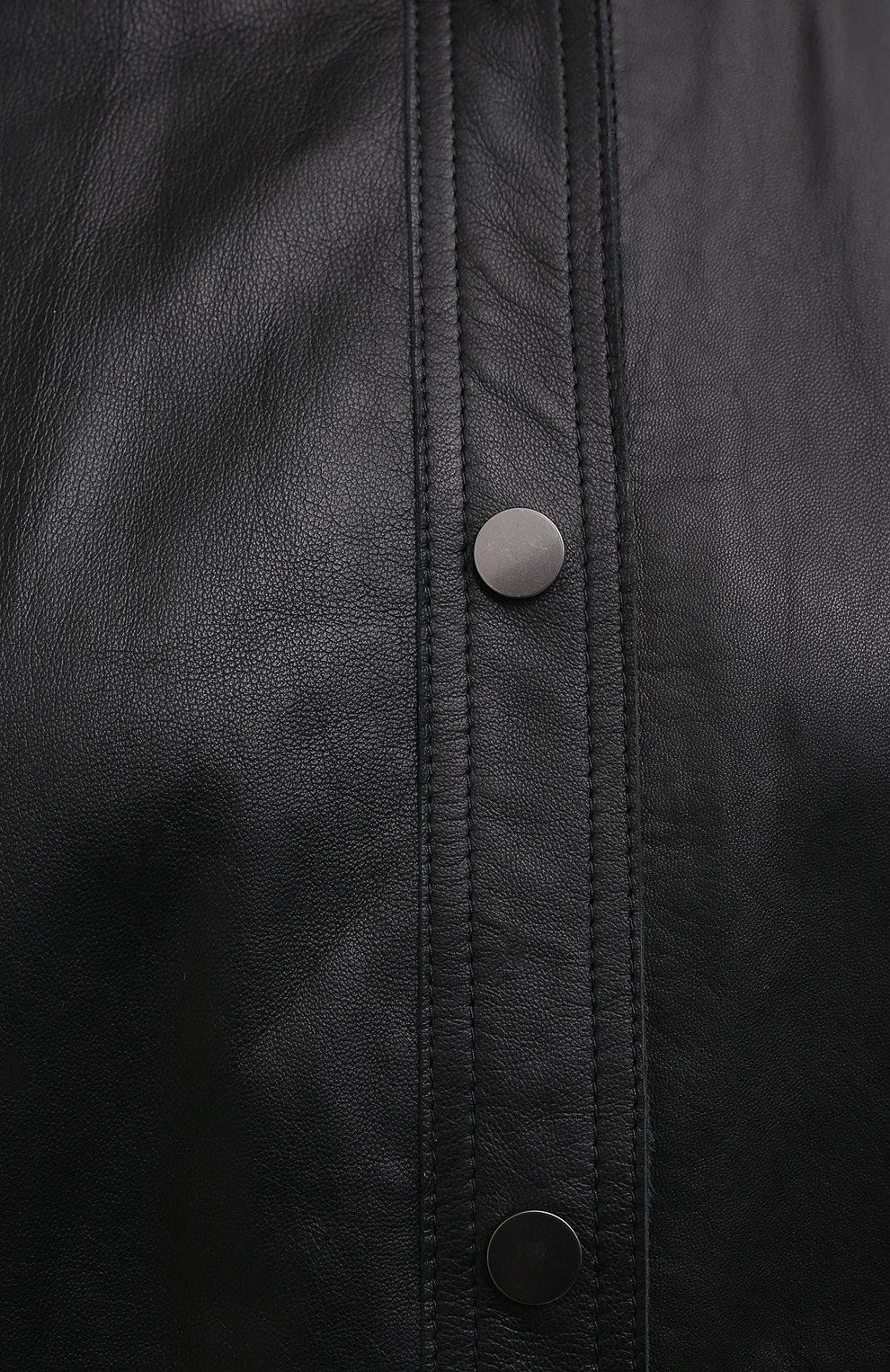 Женская кожаная рубашка BRUNELLO CUCINELLI черного цвета, арт. M0NBGRC106 | Фото 5