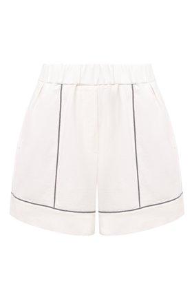 Женские хлопковые шорты BRUNELLO CUCINELLI белого цвета, арт. MH827SC489 | Фото 1