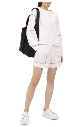 Женские хлопковые шорты BRUNELLO CUCINELLI белого цвета, арт. MH827SC489 | Фото 2