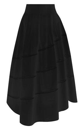 Женская хлопковая юбка BRUNELLO CUCINELLI черного цвета, арт. MH127G3071 | Фото 1
