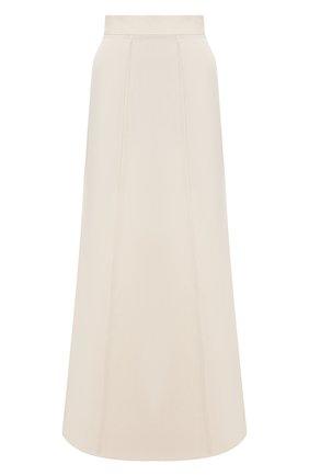 Женская юбка из вискозы и льна BRUNELLO CUCINELLI кремвого цвета, арт. MH126G3075 | Фото 1