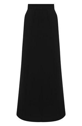 Женская юбка из вискозы и льна BRUNELLO CUCINELLI черного цвета, арт. MH126G3075 | Фото 1