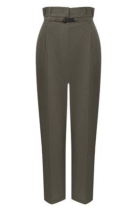 Женские хлопковые брюки BRUNELLO CUCINELLI зеленого цвета, арт. M0F79P7461 | Фото 1