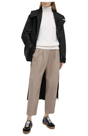 Женские замшевые брюки BRUNELLO CUCINELLI серого цвета, арт. M0PCLP7614 | Фото 2