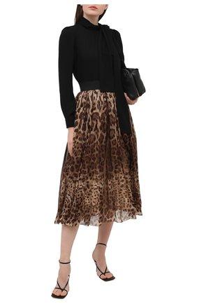 Женская шелковая юбка DOLCE & GABBANA леопардового цвета, арт. F4B0PT/FS1AR | Фото 2