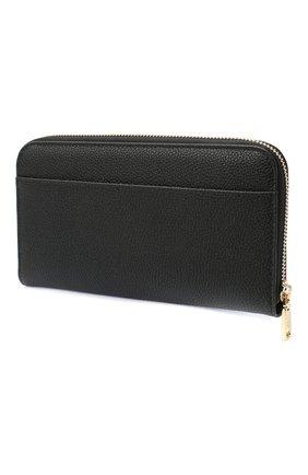 Женские кожаный кошелек DOLCE & GABBANA черного цвета, арт. BI0473/AW737 | Фото 2