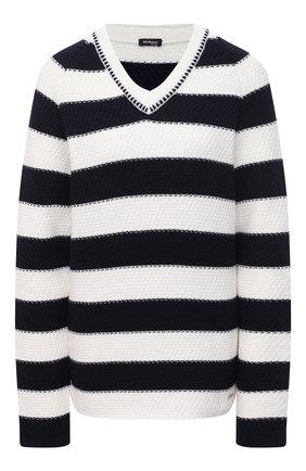 Женский шерстяной свитер KITON темно-синего цвета, арт. D51730X08T74   Фото 1