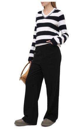 Женский шерстяной свитер KITON темно-синего цвета, арт. D51730X08T74   Фото 2