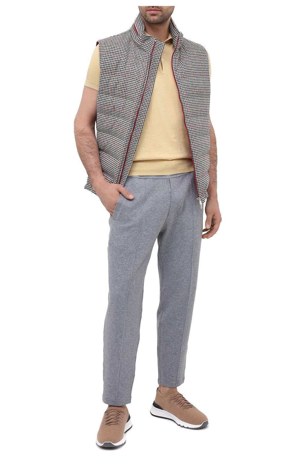 Мужские текстильные кроссовки BRUNELLO CUCINELLI бежевого цвета, арт. MZUWLB0259 | Фото 2