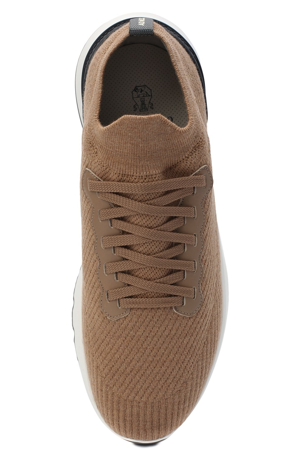 Мужские текстильные кроссовки BRUNELLO CUCINELLI бежевого цвета, арт. MZUWLB0259 | Фото 5
