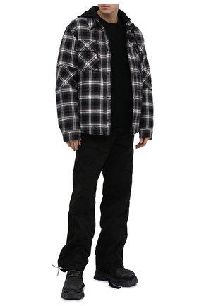 Мужские кожаные ботинки OFF-WHITE черного цвета, арт. 0MIA211R21LEA0011009   Фото 2
