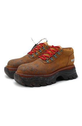 Мужские кожаные ботинки OFF-WHITE светло-коричневого цвета, арт. 0MIA211R21LEA0011961 | Фото 1