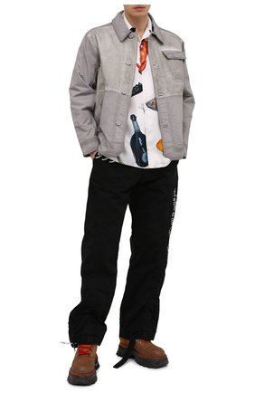 Мужские кожаные ботинки OFF-WHITE светло-коричневого цвета, арт. 0MIA211R21LEA0011961 | Фото 2