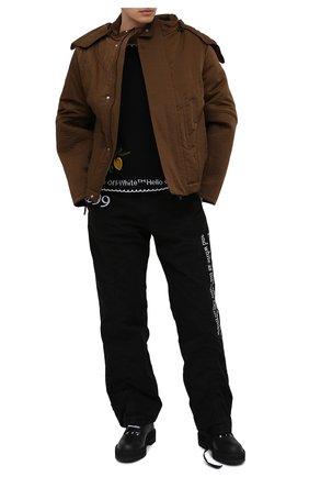Мужские кожаные ботинки OFF-WHITE черного цвета, арт. 0MID003R21LEA0011000 | Фото 2 (Подошва: Массивная; Мужское Кросс-КТ: Ботинки-обувь; Материал внутренний: Натуральная кожа)