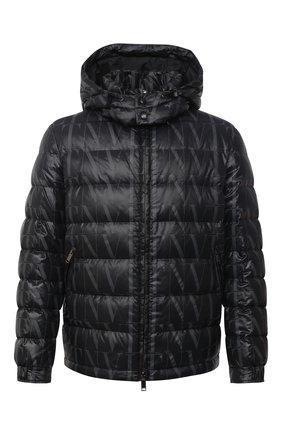 Мужская пуховая куртка VALENTINO черного цвета, арт. VV3CNA3170V   Фото 1