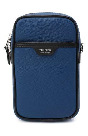 Мужская кожаная сумка TOM FORD синего цвета, арт. H0446P-LCL080 | Фото 1