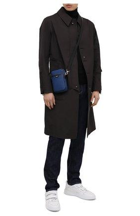 Мужская кожаная сумка TOM FORD синего цвета, арт. H0446P-LCL080 | Фото 2
