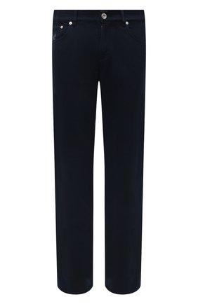 Мужские джинсы BRUNELLO CUCINELLI синего цвета, арт. M262PB2210 | Фото 1 (Длина (брюки, джинсы): Стандартные; Кросс-КТ: Деним; Стили: Кэжуэл; Материал внешний: Хлопок; Силуэт М (брюки): Прямые)