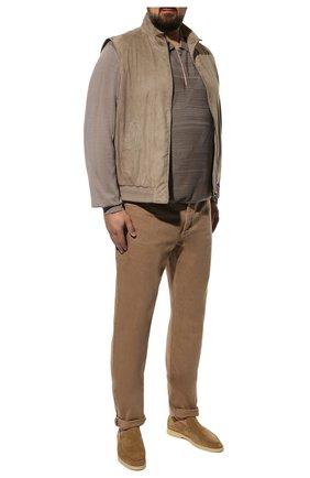 Мужские джинсы BRUNELLO CUCINELLI темно-бежевого цвета, арт. M262PB2210 | Фото 2