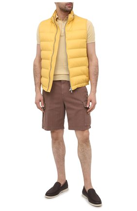 Мужские хлопковые шорты BRUNELLO CUCINELLI коричневого цвета, арт. M269DV0310 | Фото 2
