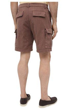 Мужские хлопковые шорты BRUNELLO CUCINELLI коричневого цвета, арт. M269DV0310 | Фото 4