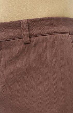 Мужские хлопковые шорты BRUNELLO CUCINELLI коричневого цвета, арт. M269DV0310 | Фото 5