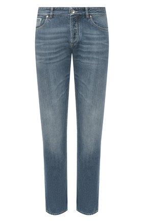 Мужские джинсы BRUNELLO CUCINELLI голубого цвета, арт. ME228B2220 | Фото 1