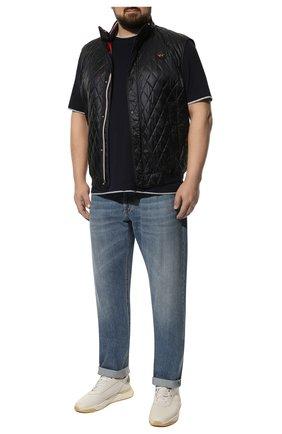 Мужские джинсы BRUNELLO CUCINELLI голубого цвета, арт. ME228B2220 | Фото 2