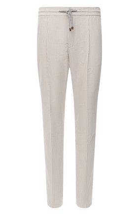 Мужские хлопковые брюки BRUNELLO CUCINELLI бежевого цвета, арт. MH223E1740 | Фото 1