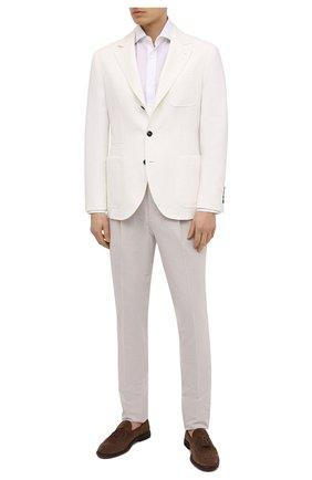 Мужские хлопковые брюки BRUNELLO CUCINELLI бежевого цвета, арт. MH223E1740 | Фото 2