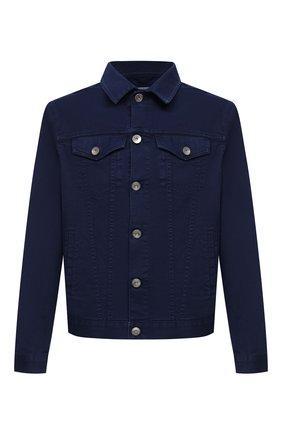 Мужская джинсовая куртка BRUNELLO CUCINELLI темно-синего цвета, арт. M277P6845 | Фото 1 (Длина (верхняя одежда): Короткие; Рукава: Длинные; Кросс-КТ: Куртка, Деним; Материал внешний: Хлопок; Стили: Кэжуэл)