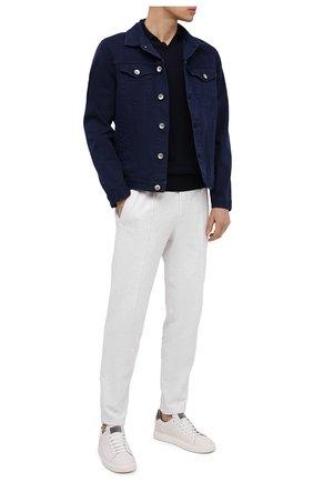 Мужская джинсовая куртка BRUNELLO CUCINELLI темно-синего цвета, арт. M277P6845 | Фото 2 (Длина (верхняя одежда): Короткие; Рукава: Длинные; Кросс-КТ: Куртка, Деним; Материал внешний: Хлопок; Стили: Кэжуэл)