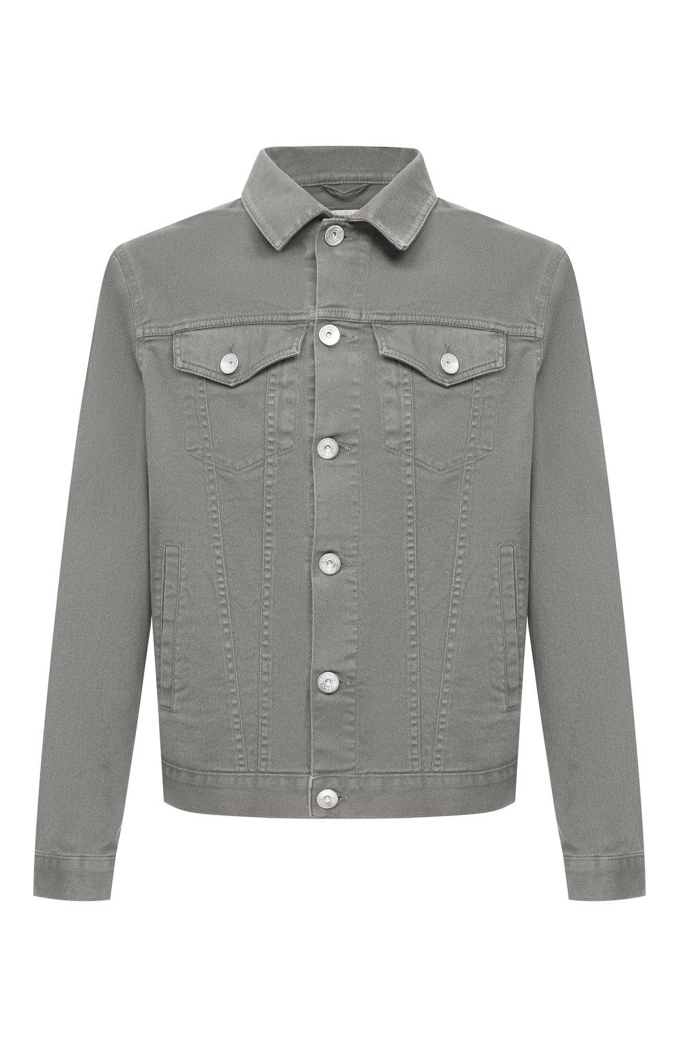 Мужская джинсовая куртка BRUNELLO CUCINELLI хаки цвета, арт. M277P6845   Фото 1