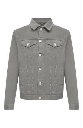 Мужская джинсовая куртка BRUNELLO CUCINELLI хаки цвета, арт. M277P6845 | Фото 1