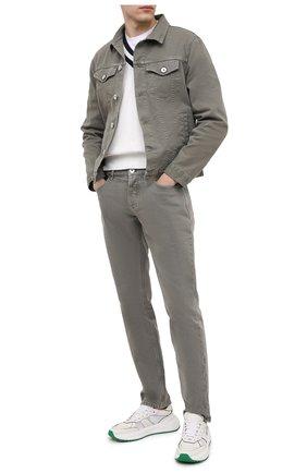 Мужская джинсовая куртка BRUNELLO CUCINELLI хаки цвета, арт. M277P6845 | Фото 2