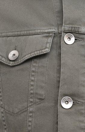 Мужская джинсовая куртка BRUNELLO CUCINELLI хаки цвета, арт. M277P6845   Фото 5