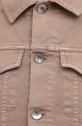 Мужская джинсовая куртка BRUNELLO CUCINELLI бежевого цвета, арт. M277P6845 | Фото 5 (Кросс-КТ: Куртка, Деним; Рукава: Длинные; Материал внешний: Хлопок; Длина (верхняя одежда): Короткие; Стили: Кэжуэл)